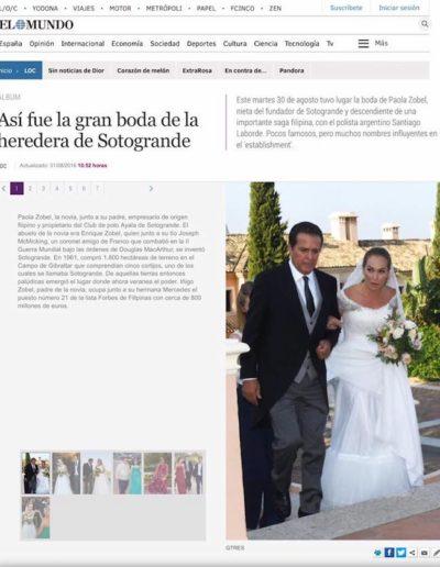 Peinado boda de famosos periódico el mundo