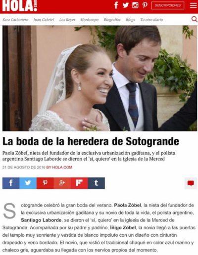 Peinado boda sotogrande revista hola