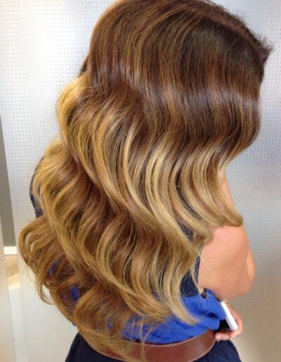 peinado ondas agua
