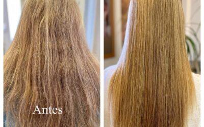 Alisado del cabello con tratamiento antiencrespamiento aminoprotéico de Secretos del Agua